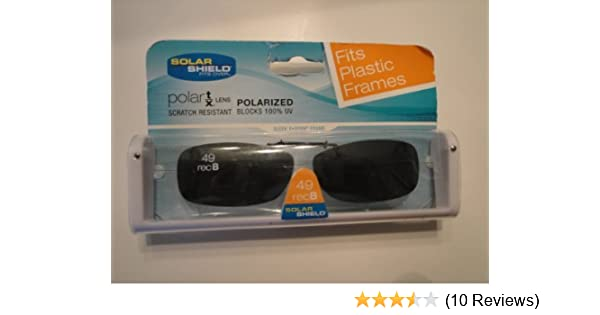 bca89b2d5e8a Amazon.com: Solar Shield size 49 Rec B fits plastic frames Gray Lens  Polarized Clip on Sunglasses by Dioptics Inc: Beauty