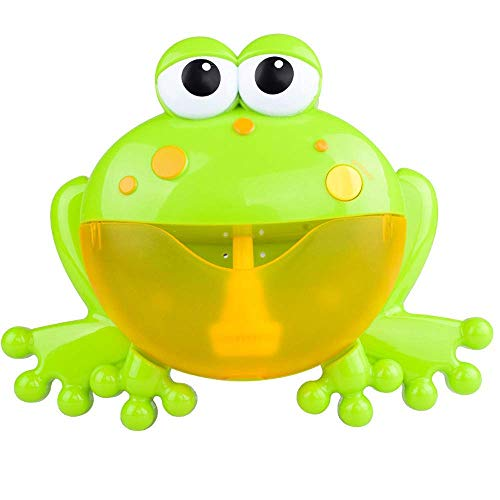 Firstfly Baby Bath Toy Bubble Machine Big Frogs Automatic Bubble Maker Blower Music Bath Toy for Baby Bath (Green)