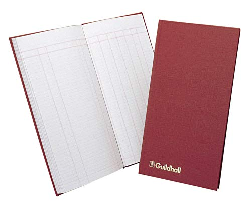 (Exacompta Guildhall Petty Cash Book, 298 x 152 mm, 80 Pages, 1 Debit and 7 Credit Columns)