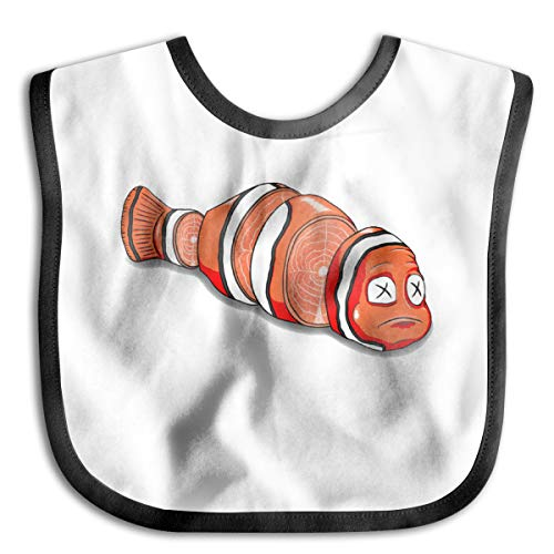 OURFASHION Sushi Nemo Baby Bib Toddler Bib Waterproof Smock Washable Stain and Odor Resistant Unisex ()