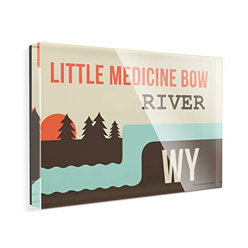 - Acrylic Fridge Magnet USA Rivers Little Medicine Bow River - Wyoming NEONBLOND