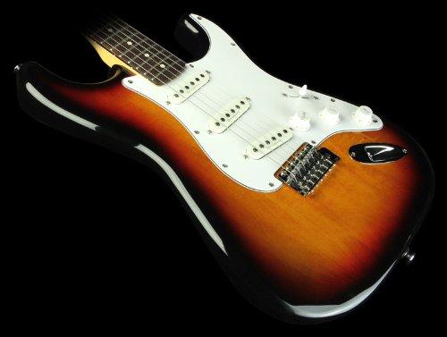 Guitar Vintage Fender Knobs (Squier by Fender Vintage Modified Stratocaster Electric Guitar - 3-Color Sunburst - Rosewood Fingerboard)
