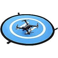 Drone and Quadcopter Landing Pad 30-inch Dronepad RC Aircraft Soft Landing Gear Waterproof Pad Fast-fold Helipad Dual Side for DJI Mavic Phantom 3 4 spark Mavic Pro ect.