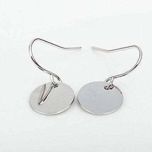 - Dangle Earring Matt Disc Punk Disco Nightclub Exaggerated Metal Earring Shiny Piece Pendant Earring Hook for Women Simple Gift (silver)