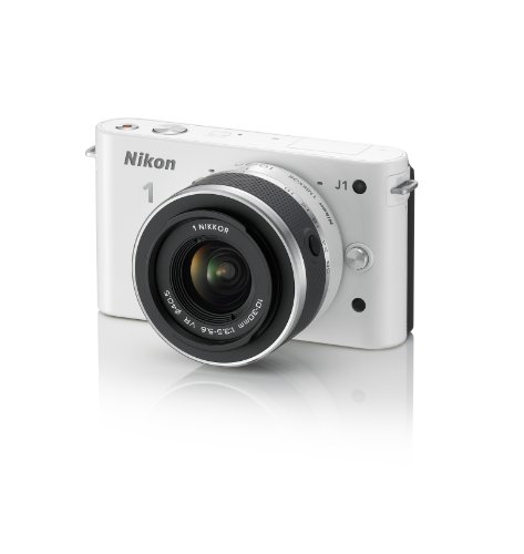 Nikon 1 J1 Digital Camera System with 10-30mm Lens (White...
