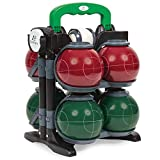 EastPoint Sports Resin Bocce Ball Set - Features Deluxe Carry Case - Includes 8 Bocce Balls in 2 Team Colors, 1 Palino, and 1 Measuring Tape, Professional Set