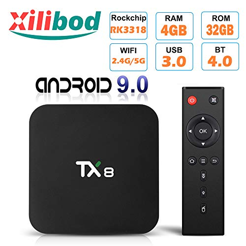 Xilibod Android 10.0 TV Box 4GB RAM 32GB ROM H616 Quad Core G31 GPU Processor H.265 Decoding 2.4G WiFi 6K HD Smart TV…