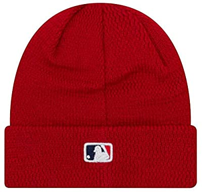 New Era MLB Philadelphia Phillies Sport Stocking Knit Hat Beanie Cuff Skull Cap Red