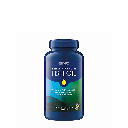 Triple Strength Fish Oil, 120 Count, High Potency, High Quality Supplement for Joint, Skin, Eye, and Heart Health