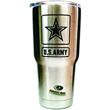 U.S. Army Engraved Mossy Oak 30 Oz Stainless Steel Tumbler