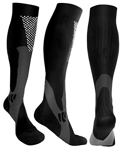 Compression Socks Men Women 20-30 mmHg Support Socks for Run, Soccer, Travel, Flight, Sports, Basketball, Recovery