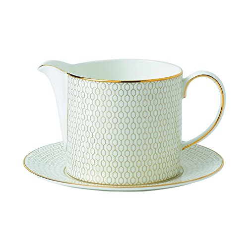 Wedgwood Arris Sauce Jug and Stand