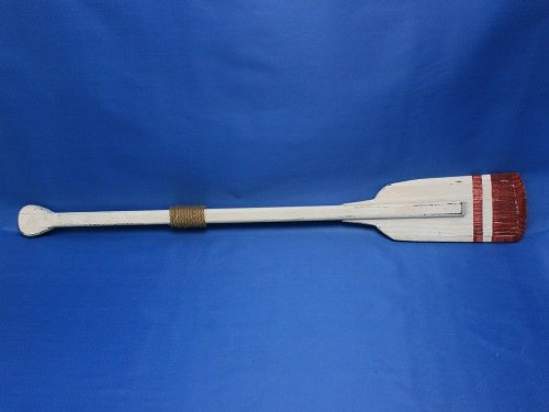 Hampton Nautical Wooden Rustic Sunderland Squared Rowing Oar with Hooks, 36'', Wood