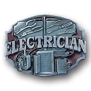 Pewter Belt Buckle - Electrician - Pewter Belt Buckle (Mens Belt Pewter Buckle)