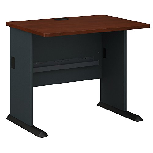 Bush Business Furniture Series A 36W Desk in Hansen Cherry and Galaxy