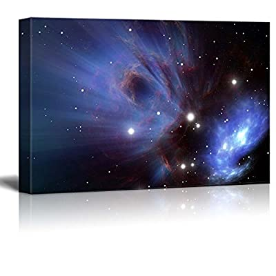 Canvas Prints Wall Art - Space Nebula Beautiful Universe/Outer Space | Modern Wall Decor/Home Decoration Stretched Gallery Canvas Wrap Giclee Print & Ready to Hang - 12