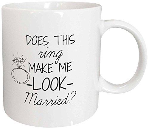 3dRose Married Black Background Ceramic