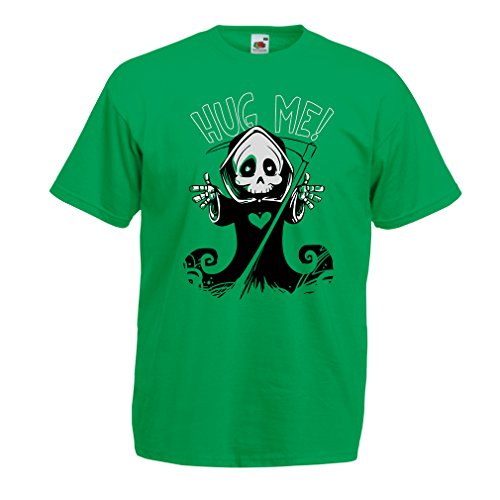 Idee Costumi Halloween Bambini (lepni.me Men's T-Shirt The Death is Coming! Halloween Skeleton Clothes The Evil (XXX-Large Green Multi)