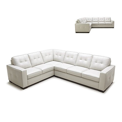 1591 talian Leather Sectional Sofa with Left Chaise