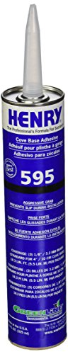 Cove Base Adhesive - Henry 3705-0184 HY59511C 11 oz Cove Base Adhesive