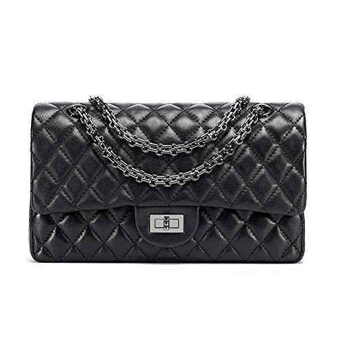 Caviar Leather - Yoome Classic Genuine Leather Quilted Crossbody Bag Luxury Caviar Grain Shoulder Handbags Purses For Womens Girls,Wear Resistant and Stylish