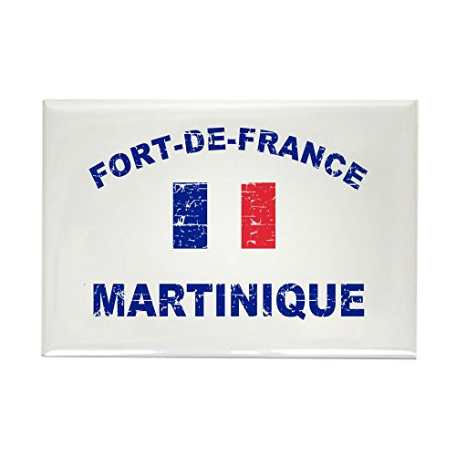 CafePress Fort De France Martinique Designs Rectangle Magnet, 2