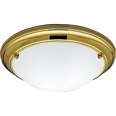Progress Lighting P7324-10EBWB 2-Light Close-To-Ceiling Fixture, Polished Brass