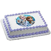 Disney's Frozen Olaf, Anna, and Elsa Edible Icing Image Cake Decoration Topper (8