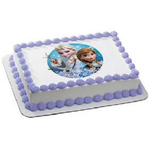 Elsa Edible Cake Decoration : 1/4 Sheet Disney Deco Pac Frozen Birthday Photo Cake ...