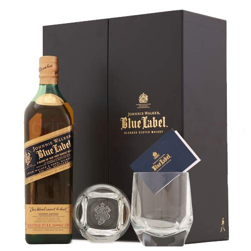 Image Unavailable. Image not available for. Colour: Johnnie Walker Blue Label - Gift Set ...