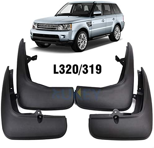 LHJ-fashion 4Pcs Car Mud Flaps Mudguards Easy Fit Rubber Mud Flaps//Guards for Land Rover Range Rover Velar 2017-2019 Front Rear Splash Guards Car Fender Styling /& Body Fittings Black