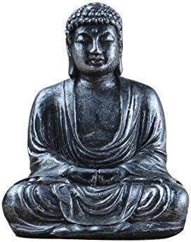 Lembeauty - Figura de Buda de 7,5 cm hecha con resina para meditación. Decoración para el jardín o el hogar: Amazon.es: Hogar