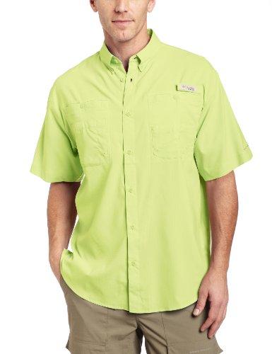 Columbia Mens Tamiami II Short Sleeve Shirt, Neon Light, Medium