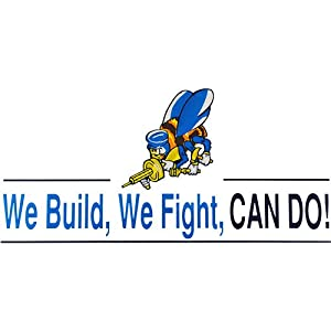 Seabees We Build We Fight Clear Decal from Mitchell Proffitt