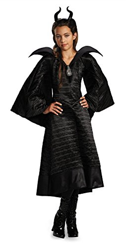 Maleficent Movie Costumes (Disney Maleficent Movie Christening Black Gown Girls Deluxe Costume,)