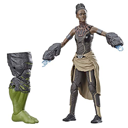 Marvel Legends Series Black Panther Shuri 6-inch Collectible Action Figure Toy for Ages 6 and Up with Accessories and Build-A-Figure Piece from Avengers