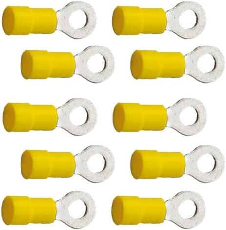 10 Stück Ringkabelschuhe M6 6 4mm Gelb 4 0 Bis 6 0 Mm Auto
