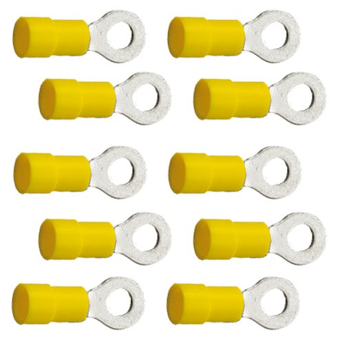 10 Stück Ringkabelschuhe M6 6, 4mm gelb 4, 0 bis 6, 0 mm² K24 - Kabelschuh