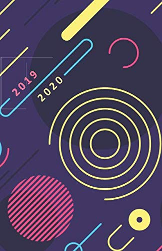 2019 - 2020: 18 Month Academic Planner from JULY 2019 through DECEMBER 2020 with yearly overviews, monthly & weekly layouts, schedule... / Modern Geometric Cover Design (Monday start week)