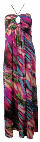 Chiffon Betsy Multi Gown Print Long amp; Pink Adam Dress tnwHpg1q
