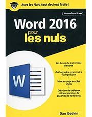 WORD 2016 2ED POCHE POUR LES NULS