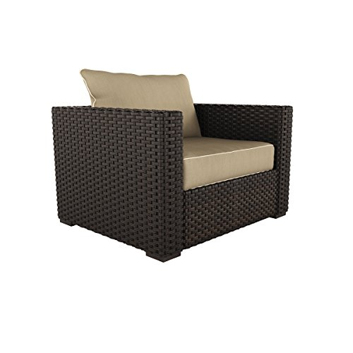 Ashley Furniture Signature Design - Spring Ridge Outdoor Lounge Chair with Cushion - Beige & (Weather Out Pool Heater Cover)