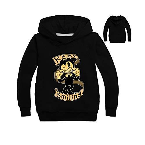 KSEM AT 3-9years Kids Ben-dy Tshirt Boys Tee Long Sleeve Hoodies Sweater Shirts Coat Boy Girls Clothing (8T, Black) -