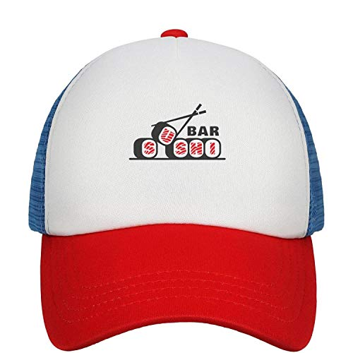 Sushi Bar Logo Vector Unisex Youth Mesh Baseball Cap Adjustable Fits Snapback Hat Sport Cap
