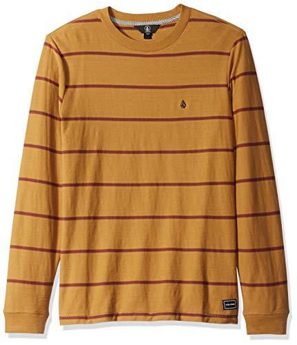 Volcom Mens Randall Knit Crew Long Sleeve Vintage Inspired Striped Shirt