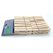 Essentials 36 Count Wood Clothespins with Spring