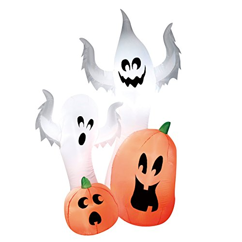 Totally Ghoul Airblown Halloween Decoration- Ghost with Pumpkins by K-mart -