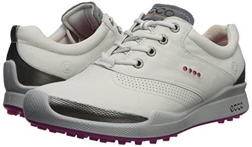 b2b27e5d84 ECCO Women's Biom Hybrid Golf Shoe, White/Candy, 39 M EU (8-8.5 US ...