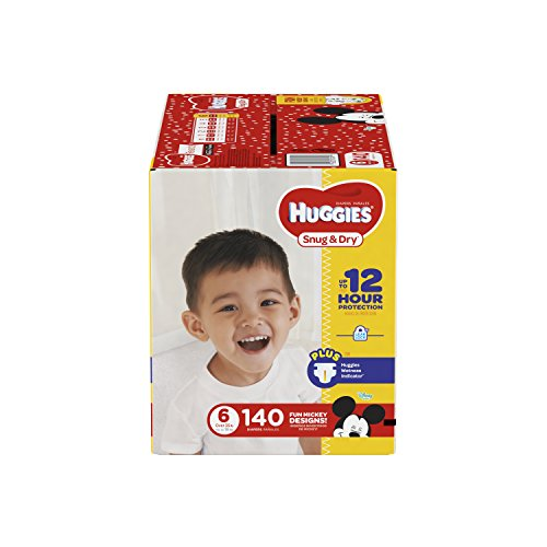 : HUGGIES Snug & Dry Diapers, Size 6, 140 Count, ECONOMY PLUS (Packaging May Vary)