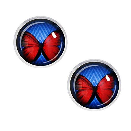 [Darkey Wang Woman Fashion Retro Beautiful Butterfly Gem Earrings, To Love The Best Gift(6#)] (Spirit Walker Costume)